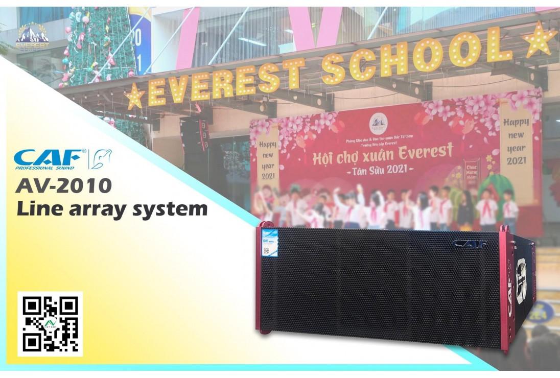 Lắp đặt bàn giao hệ thống Line array CAF AV-2010 trường Liên cấp Everest - Hoàng Quốc Việt, Hà Nội