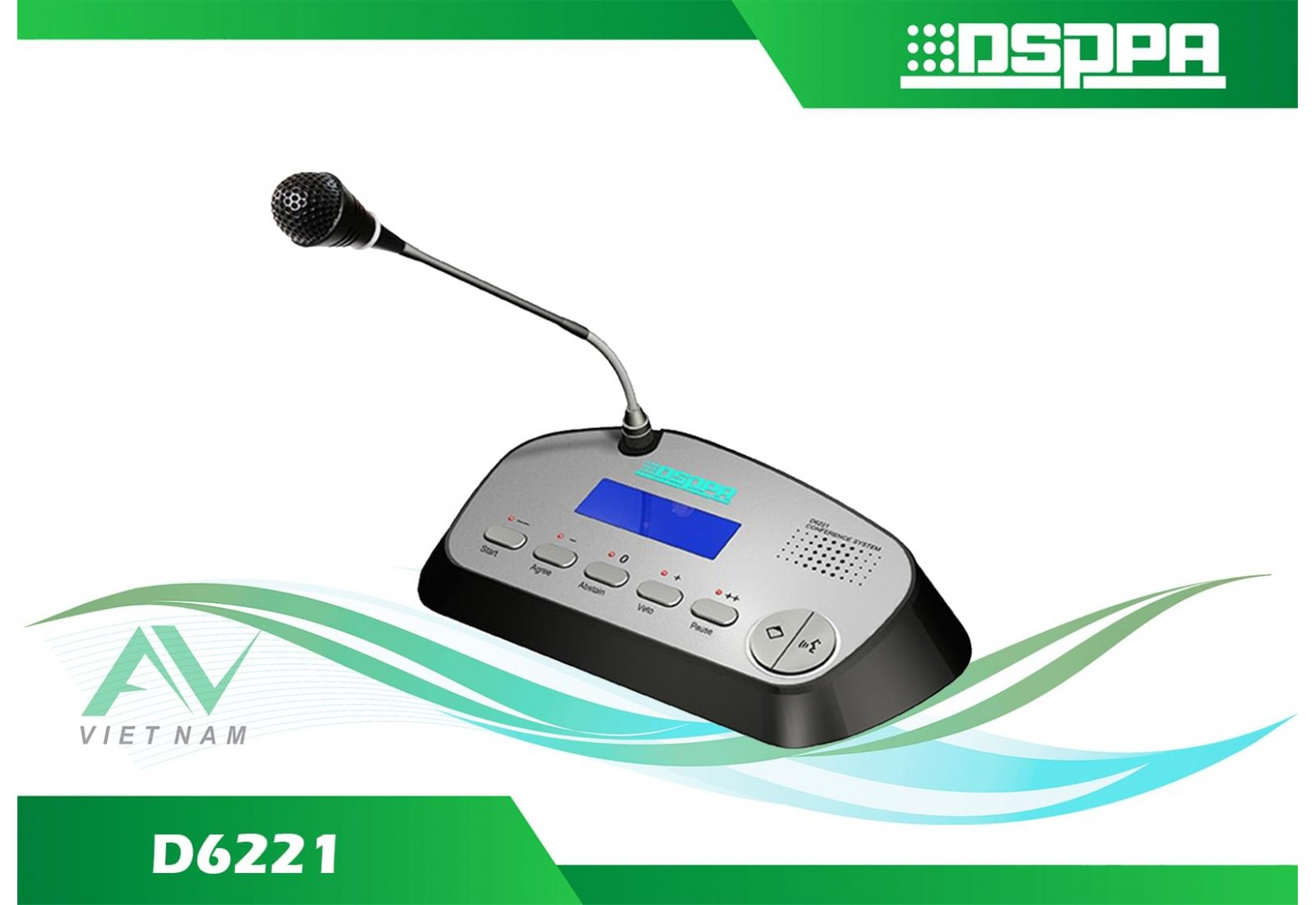 DSPPA D6221 - Micro chủ tọa có dây tích hợp chức năng bỏ phiếu